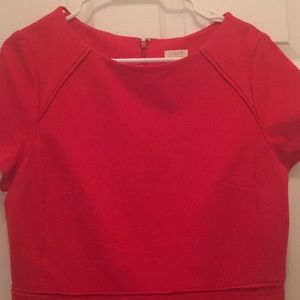 J. Crew Dresses - J.Crew Red Work Fit and Flare Dress